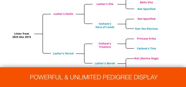 One-Page Dog Breeding Business HTML Website - Pedigree