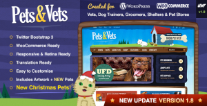 Pets & Vets Dog Breeder WordPress Theme