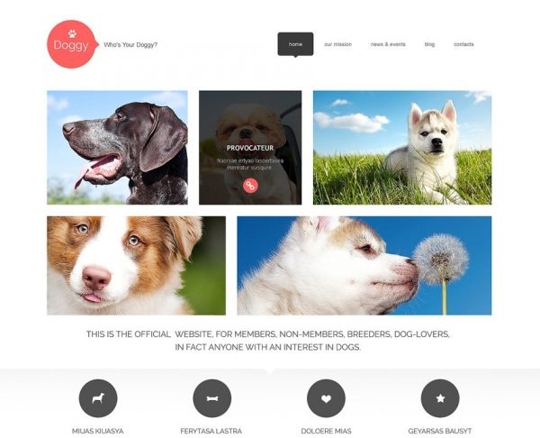 WordPress Dog Theme by Template Monster