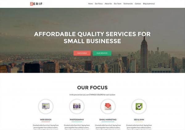 Zerif Lite One Page Free WordPress Theme