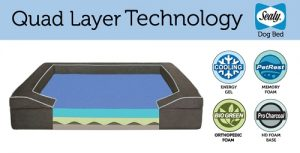 Sealy Dog Bed with Quad Layer Technology