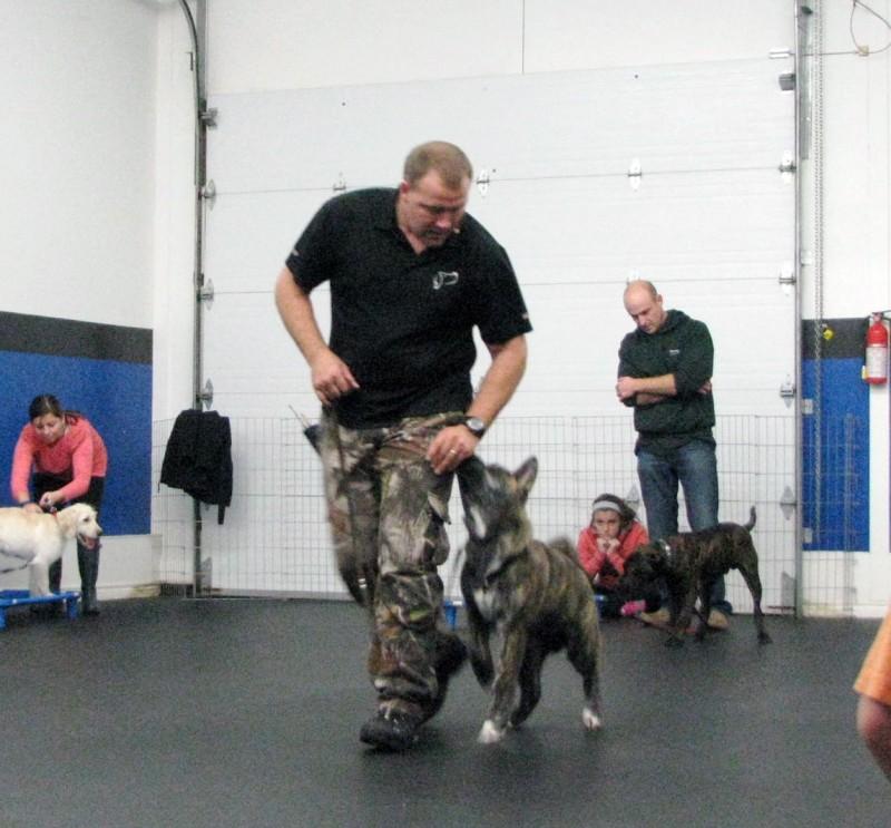 Duke Ferguson during one of his training sessions