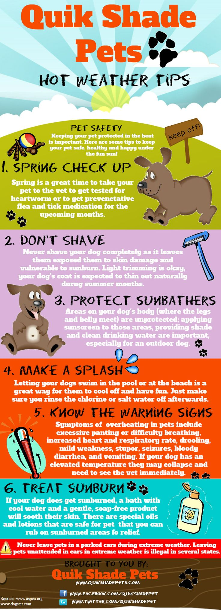 keep pets safe during hot weather