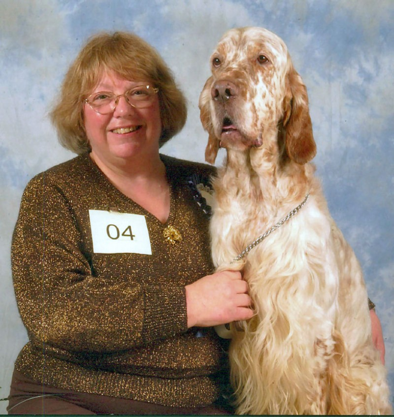 Champion English Setter With Handler Heather Lee