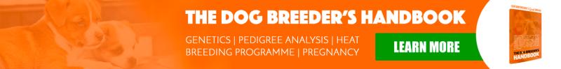 dog breeder's handbook promotional ad banner