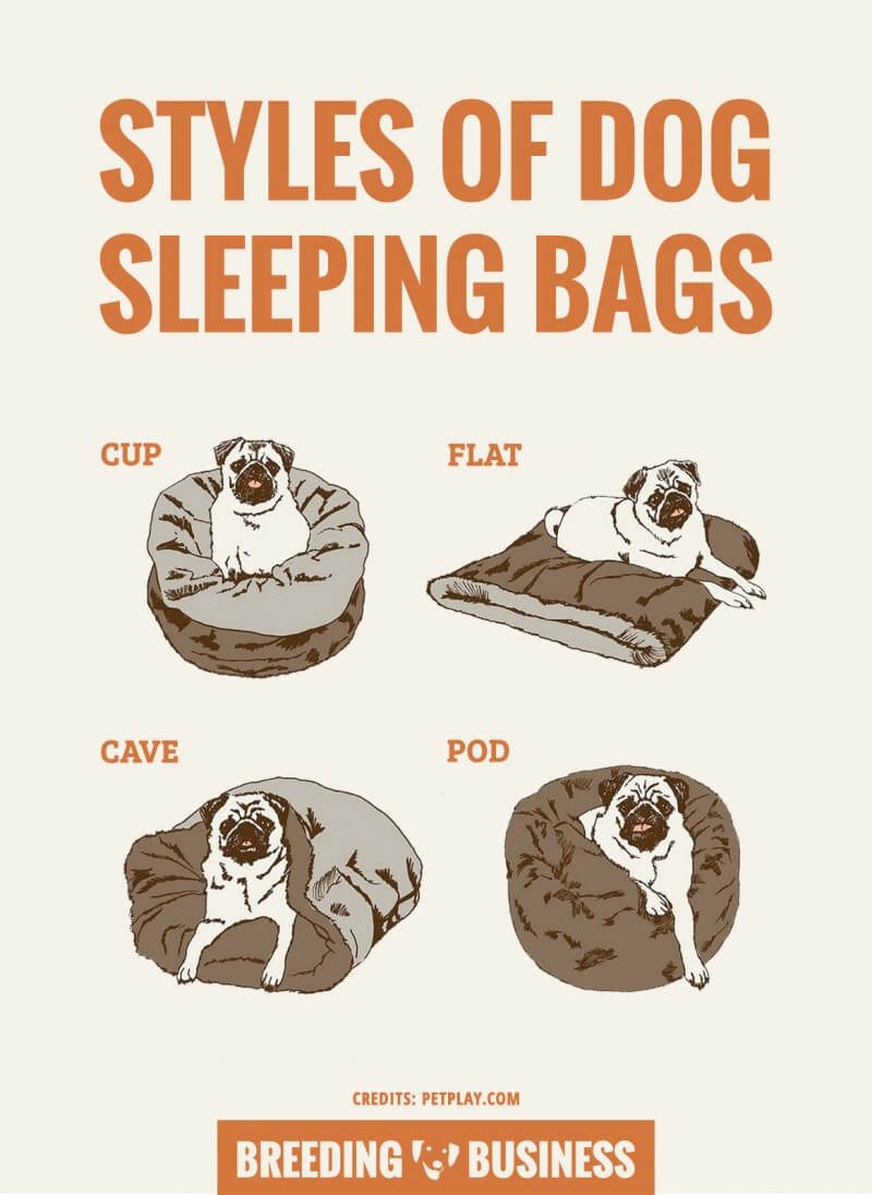 styles of sleeping bags for dogs