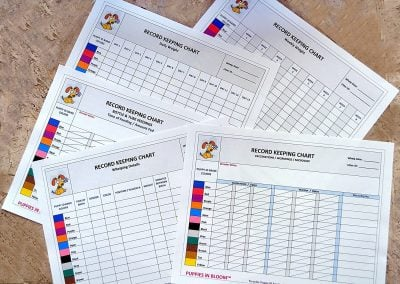 puppy litter record keeping charts