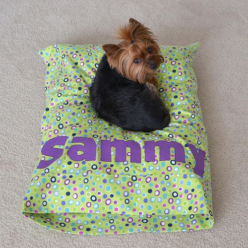 diy dog bed from a pillow case