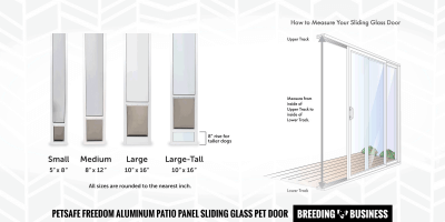 How to measure for a dog sliding door?