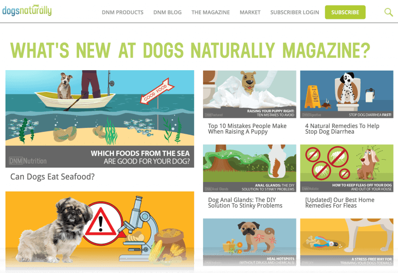 The Dogs Naturally Magazine website.