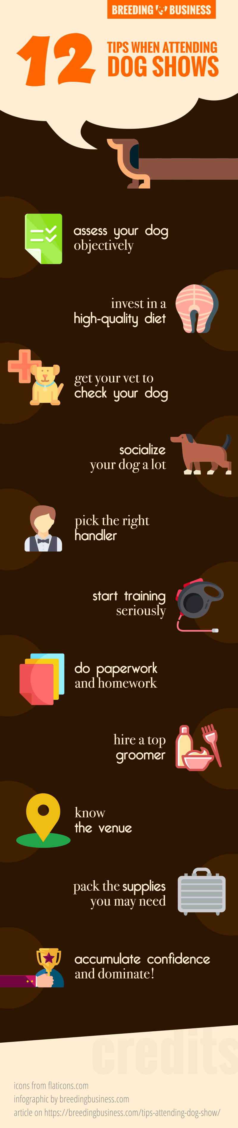 tips when attending dog shows (infographic)