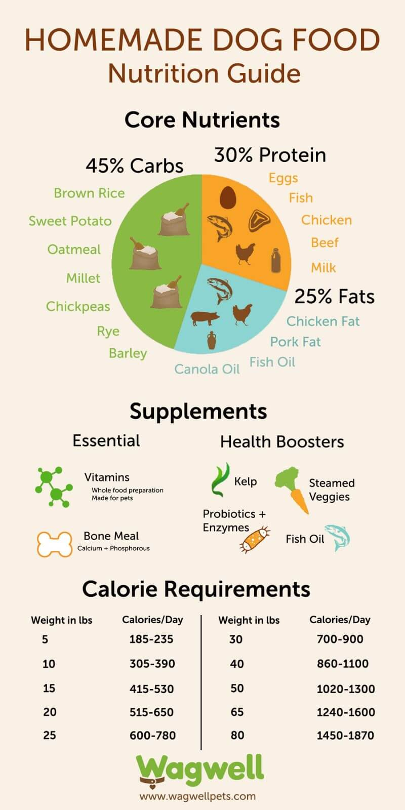 dog and puppy food nutrition guide (infographic)