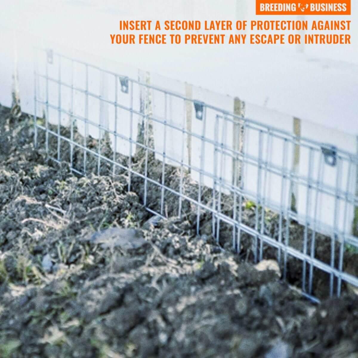 prevent dog from digging under fences