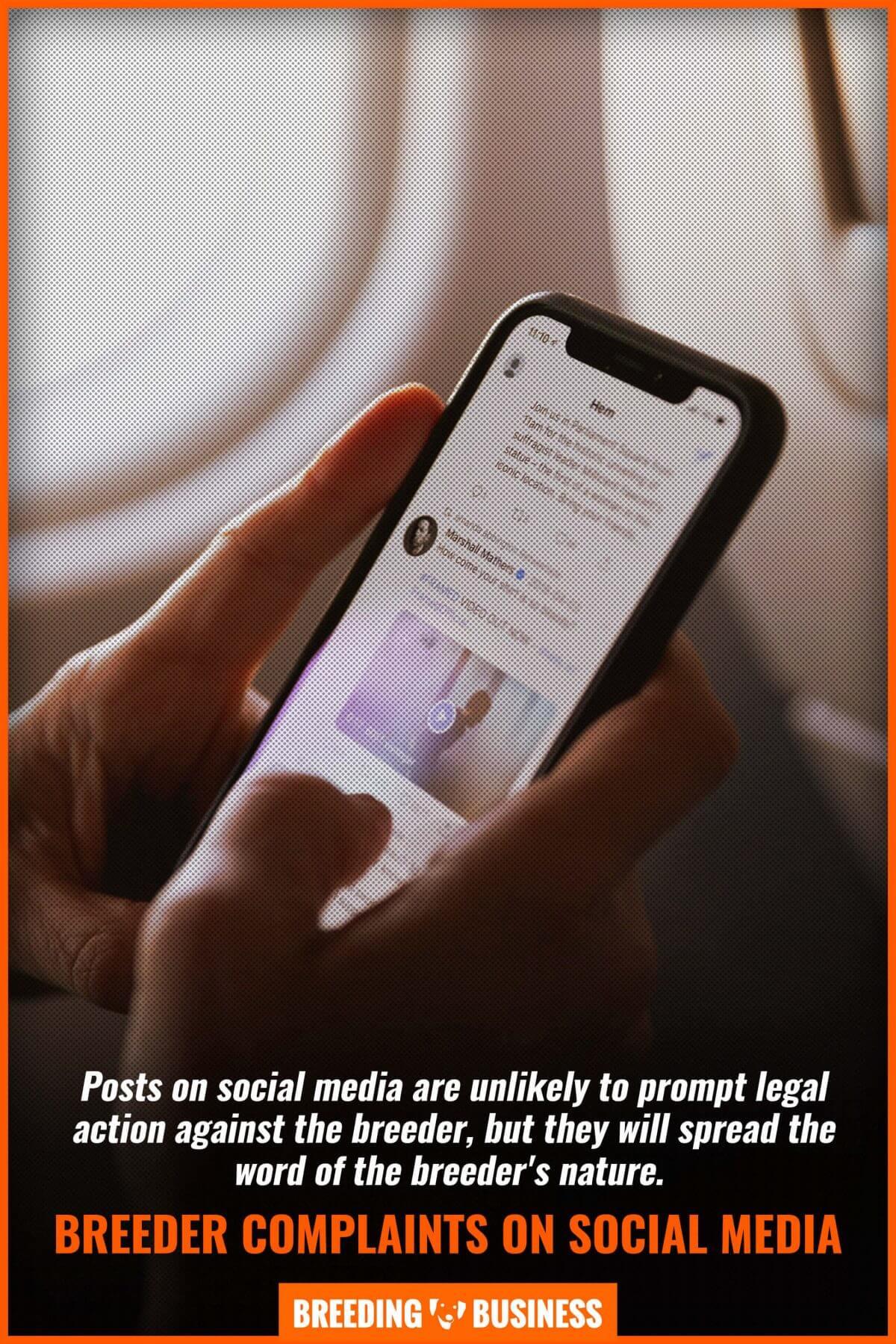 breeder complaints on social media