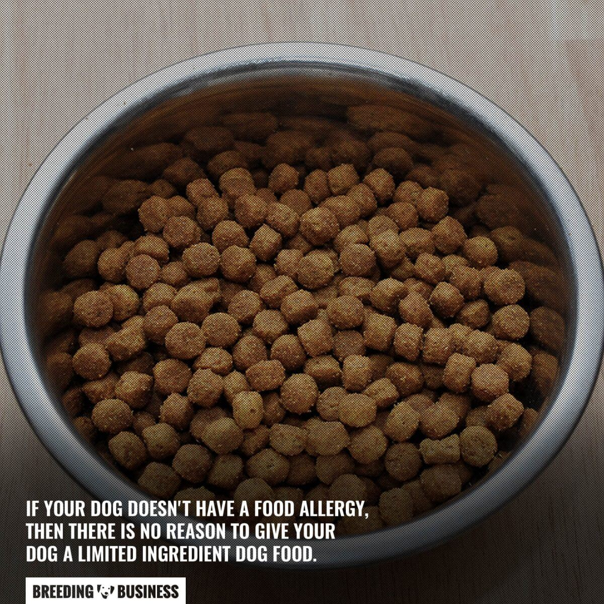 limited ingredient dog food for dogs with allergies