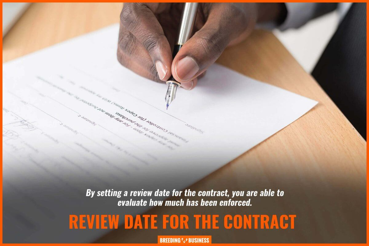 review date for the contract