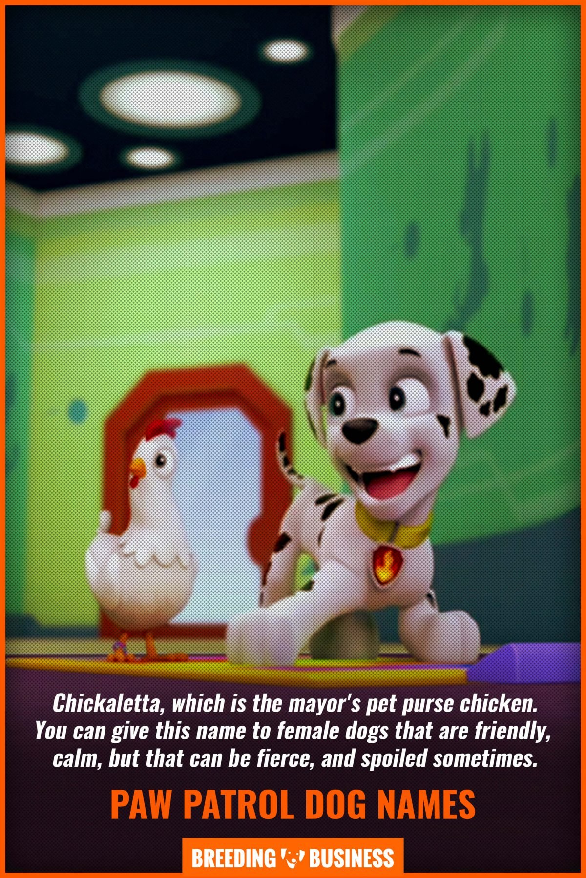paw patrol name for dogs