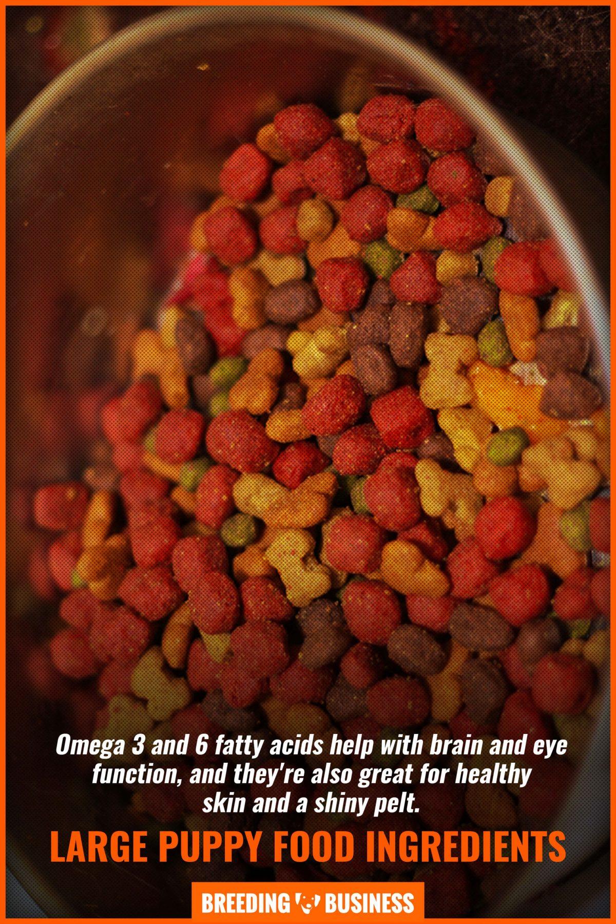 large puppy food ingredients