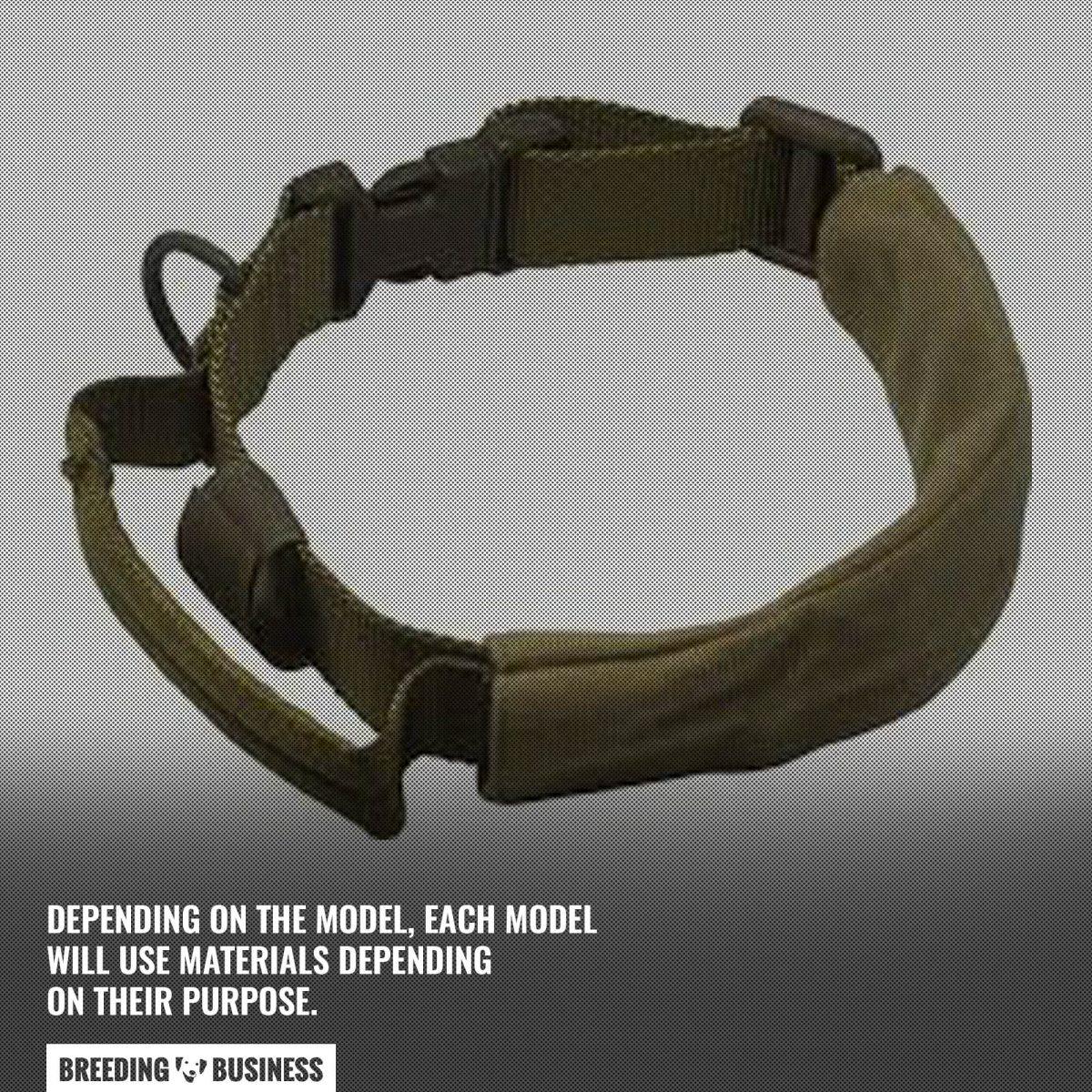 model of tactical dog collar