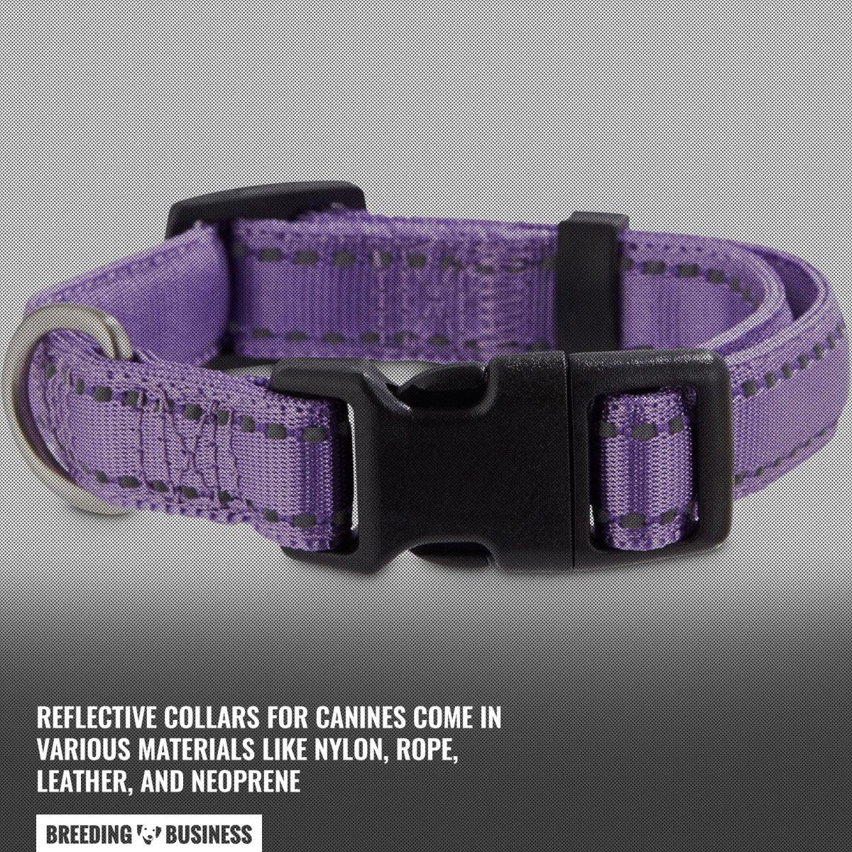 reflective collar material