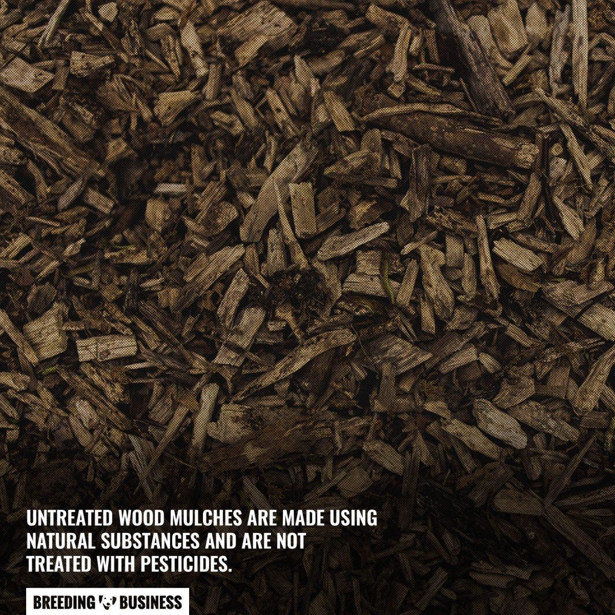 untreated wood mulch